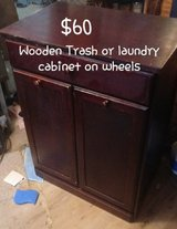 wooden trash or laundry bin in bookoo, US
