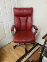 Red Leather Office Chair in Alamogordo, New Mexico