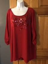 Style & Co Women's Red Top with Sequins - 2X in Batavia, Illinois