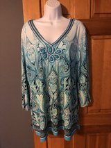 JM Women's Top with Turquoise Button Embellishments - 1X in Batavia, Illinois