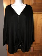 Brand New Women's Black Blouse -Ties in Front - Size 2X in Batavia, Illinois