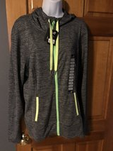New Lukka Hooded Black/Gray Thin Striped Track Jacket - size XXL - New with Tags in Batavia, Illinois