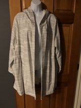 New Beige Striped Hooded Jacket - 1X - New with Tags in Chicago, Illinois