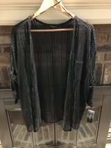 New Short Sleeved Sheer Black Striped Jacket - 2X in Chicago, Illinois