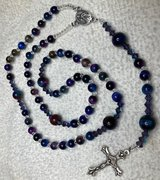 Catholic Rosary Natural Galaxy Tiger Eye Fantastic Beads New Discovery Small Medal Silver Divine... in Kingwood, Texas
