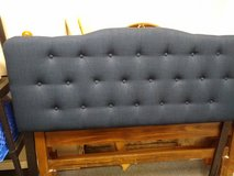 Queen Navy Upholstered Headboard in Bartlett, Illinois