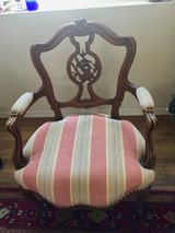 Antique Parlour Chair Hand Carved walnut - $125 in Yucca Valley, California