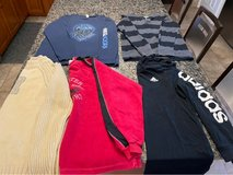5 pieces boys long sleeve tops size 14-16 in Joliet, Illinois