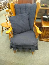 Maple Chair with Navy Cushions in Oswego, Illinois