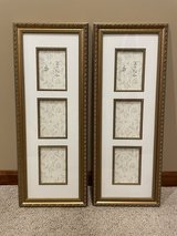 """2 Collage Picture Frames With 3 4"""" x 6"""" Picture Displays in Oswego, Illinois"""