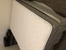 Full size Mattress, box spring, and rail in Oceanside, California