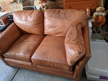 leather love seat in Oswego, Illinois
