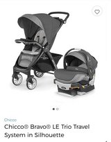 **New** Chicco Bravo LE Trio Travel System in Silhouette (Stroller and Carseat) in San Antonio, Texas