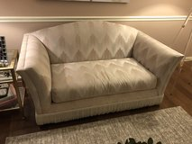 """Loveseat (Small Sofa) - 63"""" wide - Neutral Flame Stitch in Glendale Heights, Illinois"""