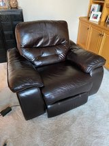 Recliner | All leather, power Recliner in Aurora, Illinois