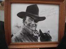Signed John WAYNE photograph in Yucca Valley, California