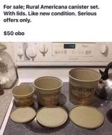 Selling my ANTIQUE Canister Set in Warner Robins, Georgia