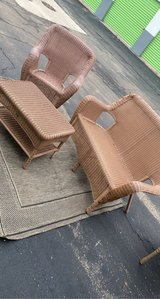 3pc great condition weather wicker patio furniture. chair little faders in Westmont, Illinois