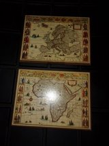 Old World Map Plaques in Warner Robins, Georgia