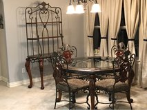 ashley Baker rack and table and 4 chairs and 2 bar chairs in Spring, Texas