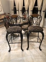 2 Ashley bar chairs with glass table and 4 chairs all together in Spring, Texas