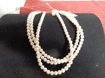 Triple Strand Faux  Pearls in Chicago, Illinois