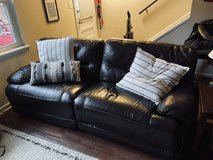 Leather Electric Reclining Couch and Matching Oversized Chair in Cary, North Carolina