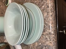 Light Blue/Teal Dinner Plates, Small Plates, and Bowls in Cary, North Carolina