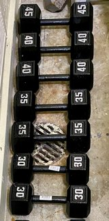 NEW Solid HEX Dumbbells Barbell weights in Fort Bragg, North Carolina
