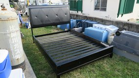strong well made queen size bed frame clean in Okinawa, Japan