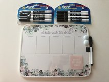Weekly Dry Erase Magnetic Board with 2 Free sets of markers in Schaumburg, Illinois