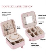 New Portable Jewelry Case Travel Earring Ring Necklace Accesories Organizer Box with Zipper in Fort Lewis, Washington