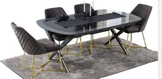 United Furniture - Scala Dining Set with 6 chairs and Extension Table (190-220 x 105cm)-delivery in Ansbach, Germany