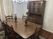 Dining Table +6 Chairs +China Cabinet Excellent Condition in Moody AFB, Georgia