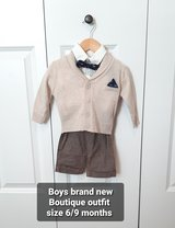 Baby boy size 6/9 months brand new Boutique outfit in Morris, Illinois