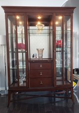 Beautiful Wood and Glass China/Display Cabinet in Naperville, Illinois