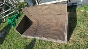free natural fiber metal frame no rust  love seat with pellows in Okinawa, Japan