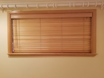 Wood blinds in Fort Lewis, Washington