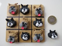 Handmade polymer clay Noughts and Crosses / Tic Tac Toe cats and dogs in Lakenheath, UK