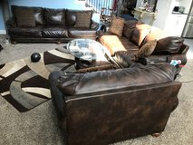 Leather sofas, with coffee table set in Bellaire, Texas