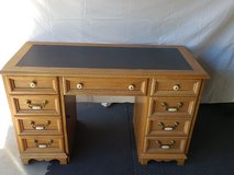 Solid Oak Lather-Top Desk in Camp Pendleton, California