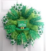 St. Patrick's Day Pancake Wreath in Emerald & Metallic Lime Green in Camp Lejeune, North Carolina