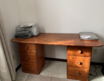 desk with printer and scanner in Yorkville, Illinois