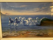 Beautiful Picture (Beach, Waves and Horses) in Camp Lejeune, North Carolina