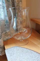 Large Vase glass footed in Ramstein, Germany