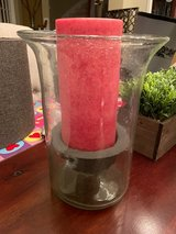 Large candle holder and candle in Kingwood, Texas