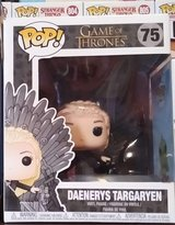 Funko Daenerys on throne in Lackland AFB, Texas