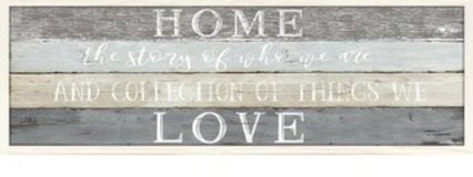 Home sentiment wall art in Beaufort, South Carolina