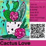 Cactus Love Paint Party online in Elizabethtown, Kentucky