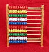 German wooden abacus for children in Okinawa, Japan